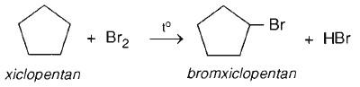 xicloankan tác dụng với brom